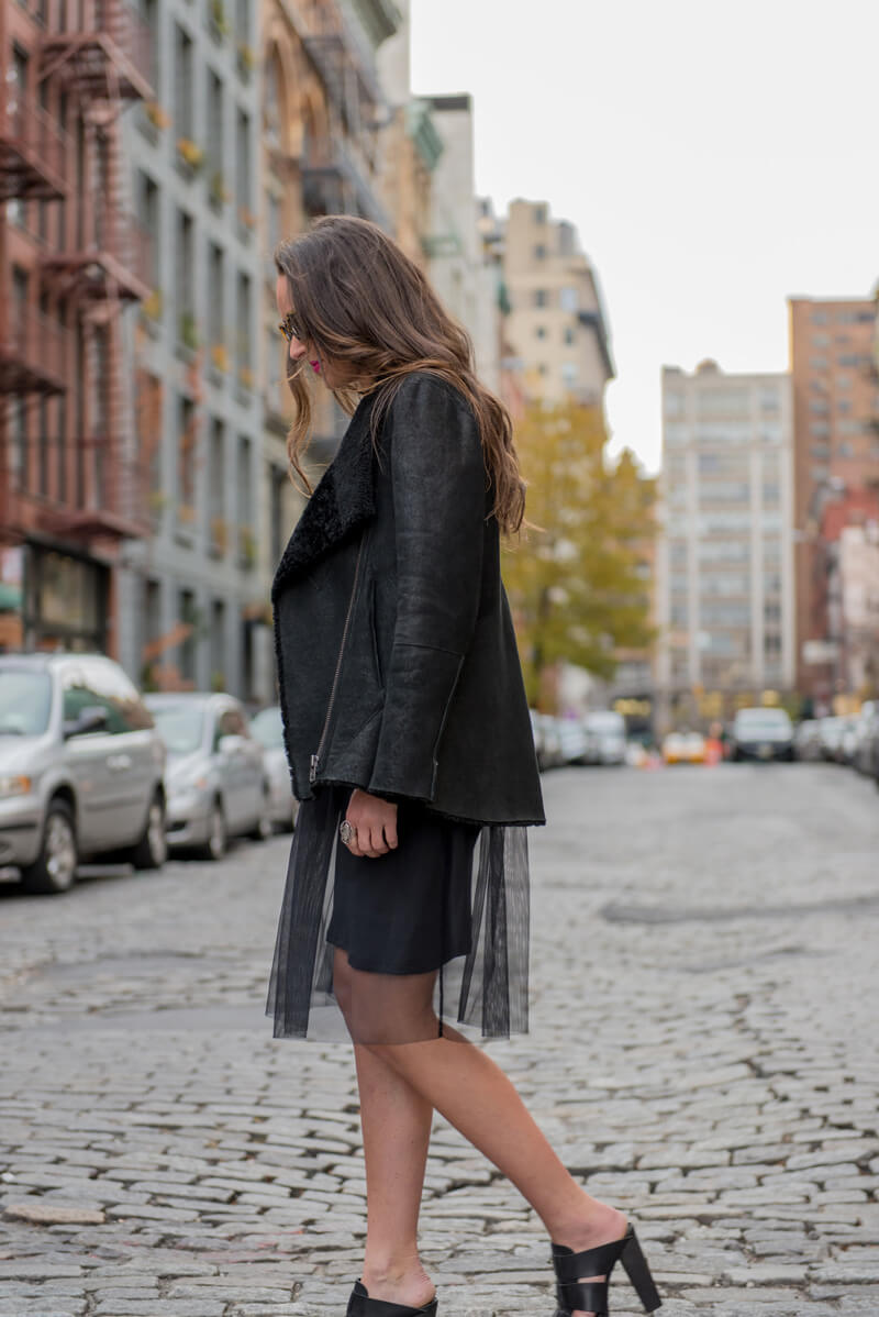 The Village Vogue | A Fashion and Lifestyle Blog by Eliza Higgins |Helmut Lang Shearling Jacket