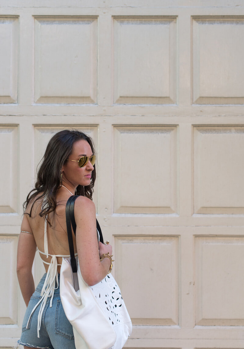 The Village Vogue - Backless Tops and Cut-offs