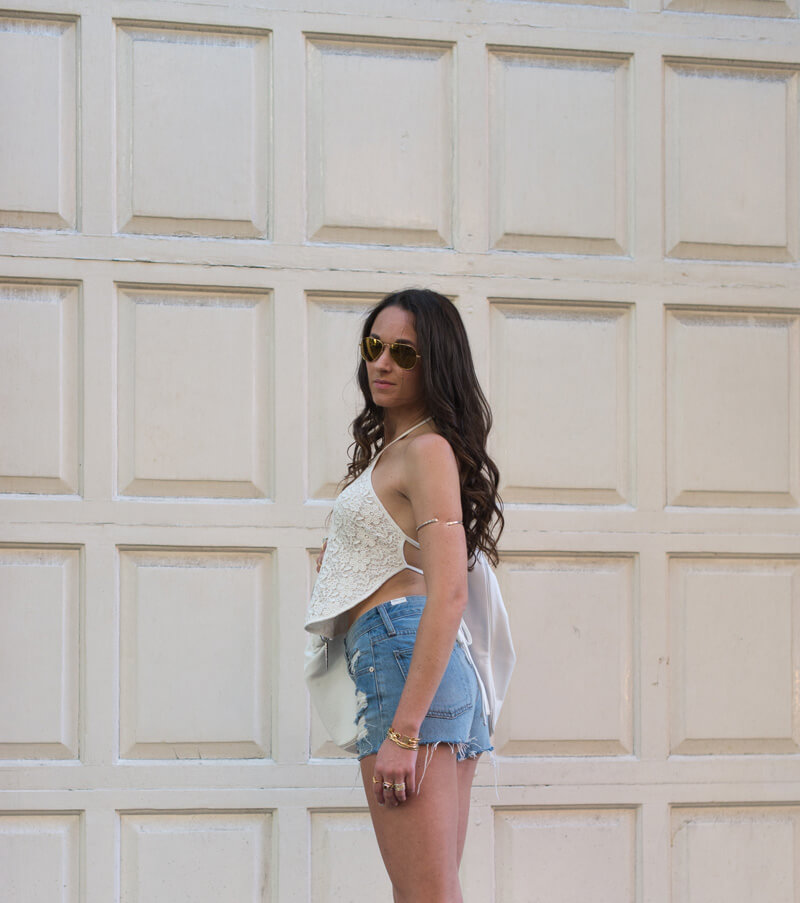 The Village Vogue - Cut-offs and Lace Tops