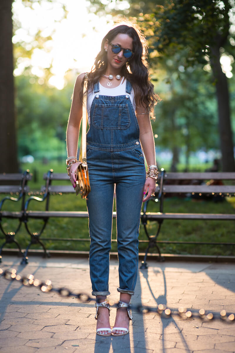 The Village Vogue - Overalls and Pearls