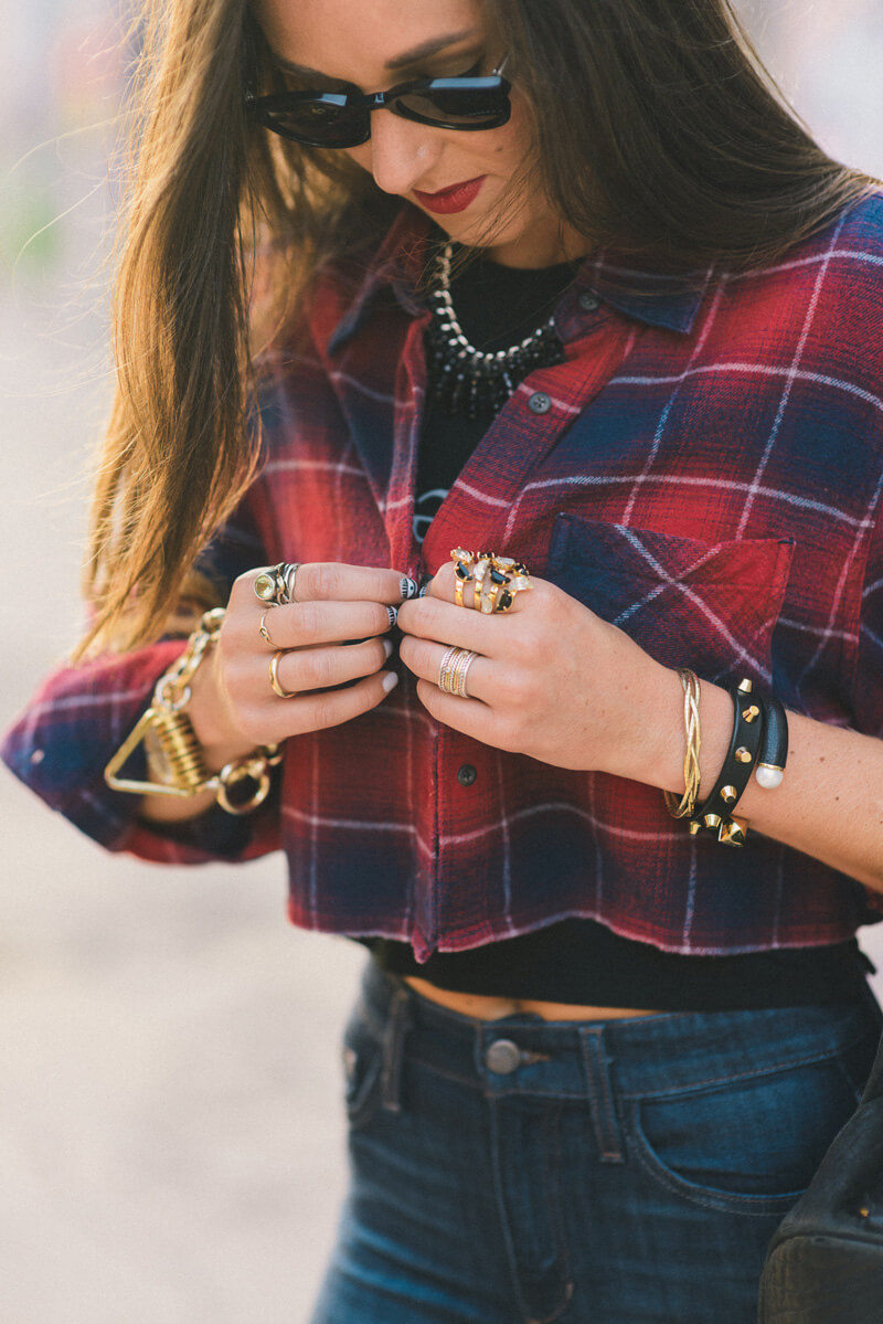 The Village Vogue - Cropped Flannel