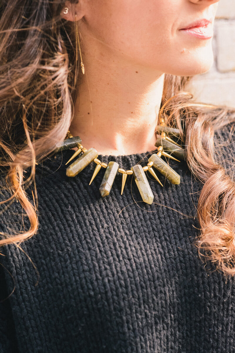 The Village Vogue - Belliza Knight Necklace and Bing Bang Threader Earring
