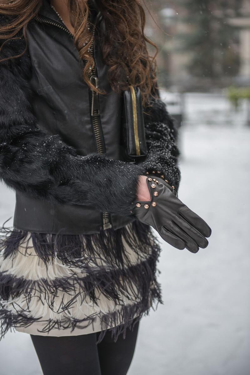 The Village Vogue - Club Monaco Feather Skirt