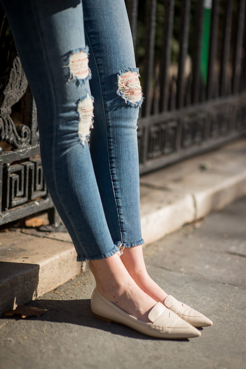 The Village Vogue - J Brand Denim & Club Monaco Loafers