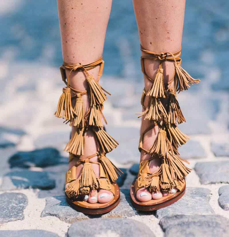 The Village Vogue - Zara Fringe Sandals