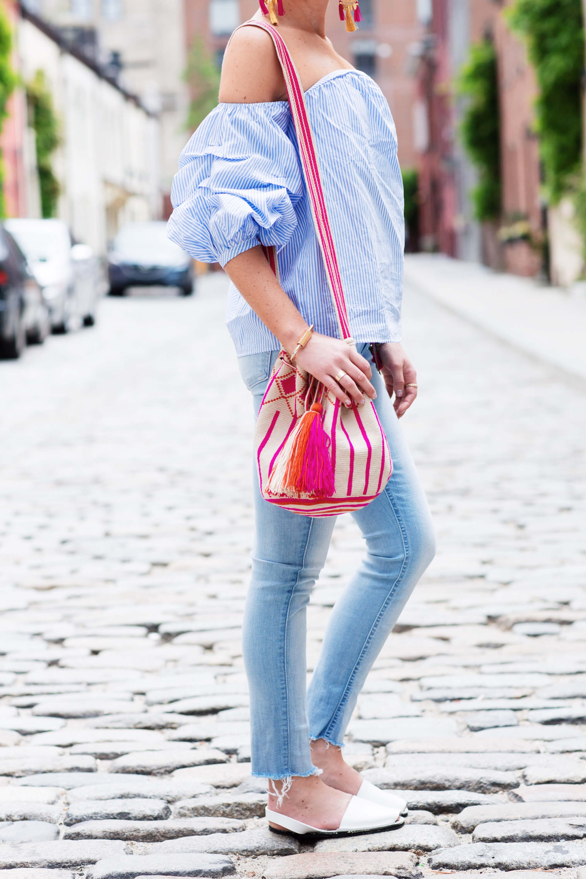 Right now is all about clouds for sleeves and statement earrings | thevillagevogue.com