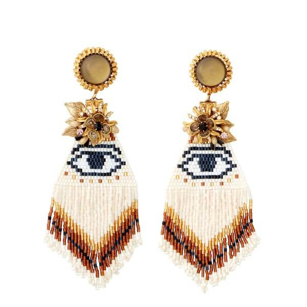 Evil Eye Fringe Earrings