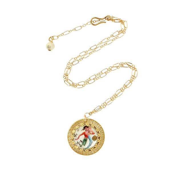 Zodiac Intaglio Aquarius Necklace