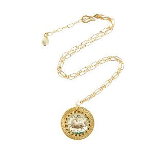 Zodiac Intaglio Aries Necklace