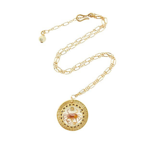 Zodiac Intaglio Cancer Necklace