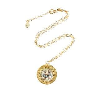 Zodiac Intaglio Gemini Necklace