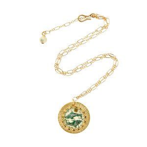Zodiac Intaglio Pisces Necklace