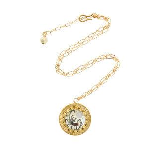 Zodiac Intaglio Scorpio Necklace