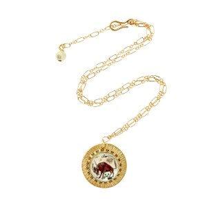 Zodiac Intaglio Taurus Necklace