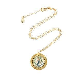 Zodiac Intaglio Virgo Necklace